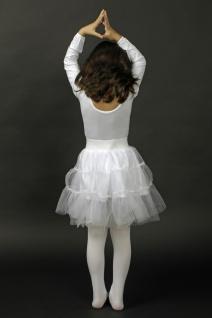 Petticoat Kinder Tüllrock Unterrock Mädchen Tütü weiß Fasching Karneval KK