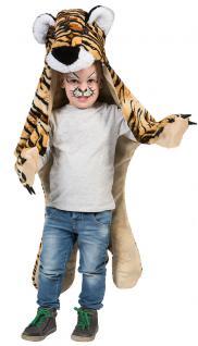Tiger Kostüm Kinder Tiger Umhang Kinder Tiger-Fell Teppich aus Plüsch Karneval K