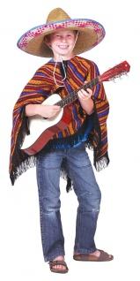 Poncho Mexiko Kinder Kostüm KK