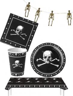 Halloween Horror Party Raum Deko Tisch Dekoration Skelett KK - Vorschau