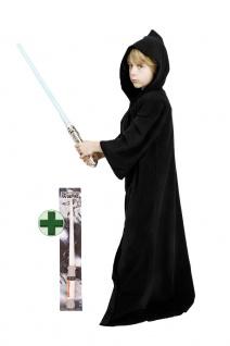 Umhang Space Ritter Kinder schwarz mit Lichtschwert KK