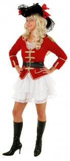 Piraten Kostüm Damen Piratenjacke Piratenmantel Rock Piratin Damenkostüm KK