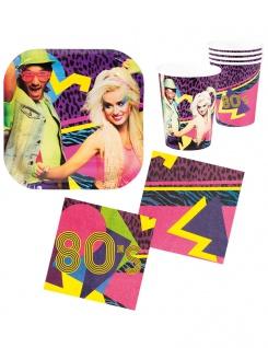 Party Set 80er Jahre Disco Party 24 Teile KK