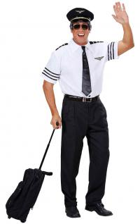 Kostüm Pilot Herr Pilotenkostüm Karneval Fasching Flugbegleiter Herrenkostüm KK