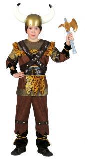 Wikinger-kostüm Kinder Nordmann-Kostüm Krieger Wikinger Junge Kinder-Kostüm KK