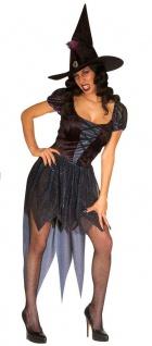 Hexenkostüm-e Damen Kostüm sexy Hexe mit Hexenhut Halloween KK