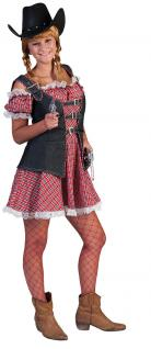 Karneval Klamotten Kostüm Sexy Cowgirl Dame Mae Karneval Western Damenkostüm