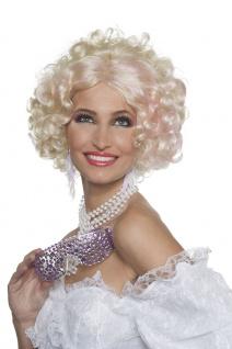 20er 30er Jahre Damen-Perücke blond rosa Charleston Perücke Karneval Fasching KK
