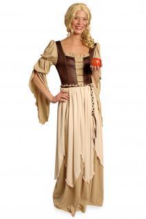 Kostüm Magd Bäuerin Mittelalter Kleid Damen Burgfrau Freifrau Damenkostüm KK