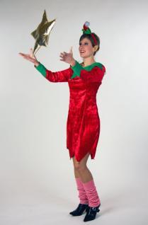 Weihnachtselfe Weihnachtsfrau Wichtel Damen Kostüm Weihnachtskostüm 2-tlg. KK
