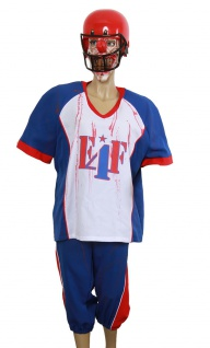 Horror Kostüm Herren Zombie American Football Quarterback KK