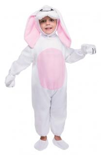 Kaninchen Kostüm Baby weiß aus Fleece Stoff Kleinkind Kinderkostüm Fasching KK