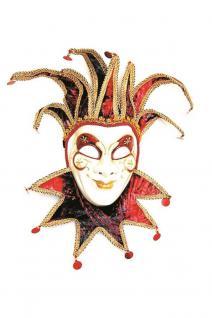Venezianische Maske Joker Luxus Venedig Maskenball Harlekin Maske Karneval KK