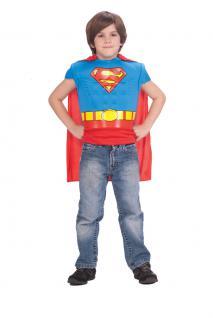 Karneval Klamotten Kostüm Superman Muskeln Oberteil Kind Karneval Kinderkostüm