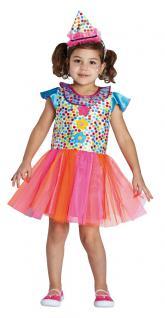 Kostüm Clown Kinder Mädchen bunt Clownkostüm Kinderkostüm Fasching Karneval KK