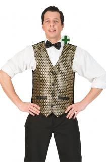 Pailletten Weste Faschingsweste Herren grün St Patricks Fasching Kostüm KK