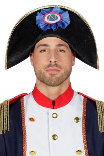 Napoleon Hut Erwachsene Zweispitz Admiralshut Offizier Napoleonhut Fasching KK - Vorschau