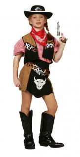 Kostüm Cowboy Kinder Mädchen Westernkostüm Cowboykostüm Kinderkostüm Karneval KK - Vorschau