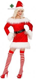 Weihnachtsfrau Kostüm sexy Kleid mit Mütze Weihnachts-Kostüm Damen Weihnachten K
