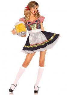 Oktoberfest Dirndl Kostüm blau Luxus Trachtenkleid Damen Dirndl Bayern Tirol KK