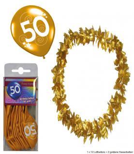 Goldene Hochzeit Party Deko Accesoire Set