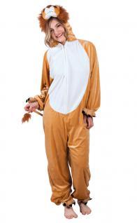 Kostüm Löwe Löwenkostüm Damen Plüsch Löwe-Overall Lion Tierkostüm Damen-Kostüm K