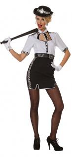 Polizist Kostüm Damen Bobby London England Polizistin Damenkostüm Karneval KK