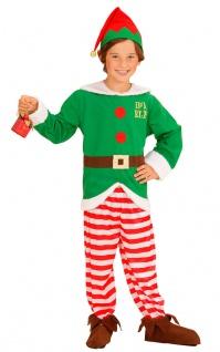 Weihnachtself Kostüm Kinder Weihnachtshelfer Wichtel Elf Weihnachten Karneval KK