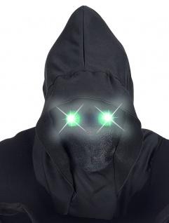 Sensenmann Henker Maske unsichtbares Gesicht leuchtende Augen grün Halloween KK