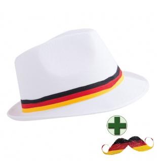 Fußball Fan-Artikel: Hut Cap Deutschland Schnurrbart Germany WM 2018 KK