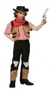 Cowboy Kostüm Kinder Jungen Westernkostüm Cowboyweste Hose Karneval Fasching KK