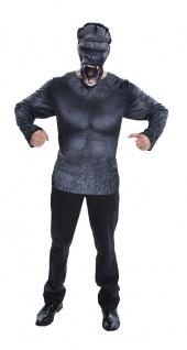 Gorilla Kostüm Herren 3D Horror Printed T-Shirt Horror Affen-Maske aus Tuch KK