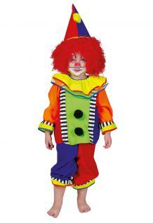 Kostüm Clown Baby Kinder Mädchen Junge bunt Clownkostüm Babykostüm bunt KK