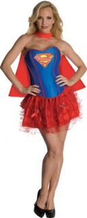Superwoman Kostüm Damen Frauen Supergirl Superhero Damen-Kostüm Karneval KK