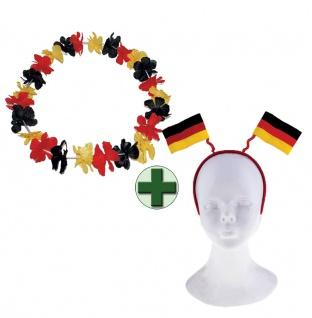 Haarreif Deutschland Fan-Haarreif Hawaiikette EM WM Herren Fußball 2021 KK