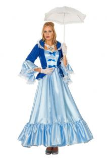 Viktorianisches Kleid Sissikleid Rokoko Damen-Kostüm blau Barock Kostüm Damen KK - Vorschau