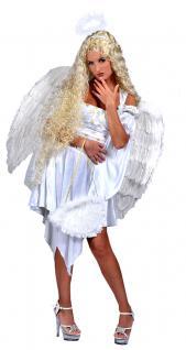 Karneval Klamotten Kostüm Kleid Sexy Engel Weihnachten Damenkostüm