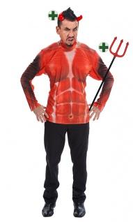 Fotorealistisch Shirt Tufel Teufelskostüm Halloween-Kostüm Fasching Karneval KK