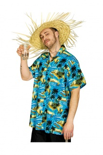 Hawaii Kostüm Herren Hawaiihemd bunt Aloha-Shirt Palmen Karneval Sommerparty KK