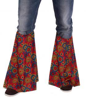 Karneval Klamotten Hippie Stulpen Multiflower Dame Herr Karneval Flower Power