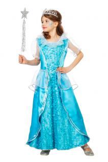 Eis-Prinzessin Mädchen-Kostüm Eis-Königin Kinder Prinzessin Kostüm blau lang KK