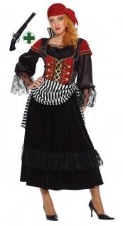 Piratin Pirat Kostüm Damen Piratenbraut Freibeuterin Pistole Fasching Karneval K