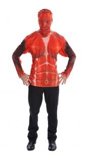 Skelett blutig Kostüm Herren Grusel Zombi Horrorshirt Halloween Karneval KK