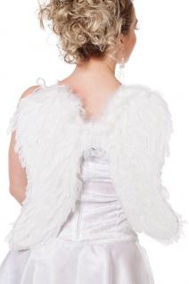 Engels-Flügel Kostüm weiß Feder-Flügel Engel Weihnachten 47 cm Karneval Fasching
