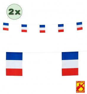 Girlande Frankreich 2 Stück 6 Meter Fan-Artikel Fußball WM 2018 blau weiß rot KK