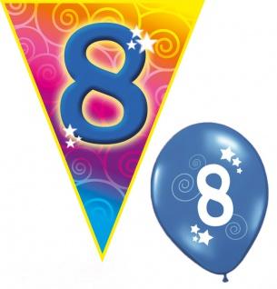 Kindergeburtstag Deko Set Geburtstag-s Party 8 Jahr Dekoration Girlanden Ballons - Vorschau
