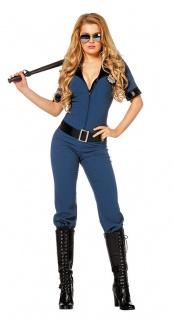 Polizistin Kostum Damen Sexy Polizei Overall Uniform Frauenkostum
