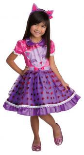 Katze Kostüm Kinder Kleid Mädchenkostüm mit Haarreif Ohren Kleinkind Karneval KK