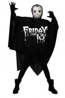 Jason Herren-Kostüm Freitag 13 Umhang mit Maske Horror Halloween-Kostüm
