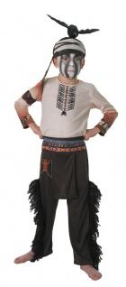 Indianer Kostüm Kinder Jungen Tonto beige braun Karneval Fasching KK